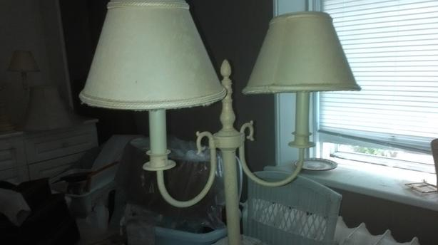 Vintage Double Headed Floor Lamp
