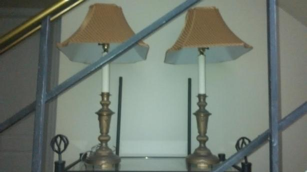 Vintage Table Lamps with Lions Head