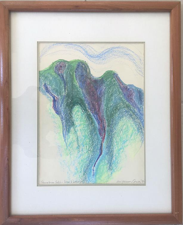 ORIGINAL Oil Pastel 1980 by Renowned Artist Anne Rosemary Conway (1934 - 2018)