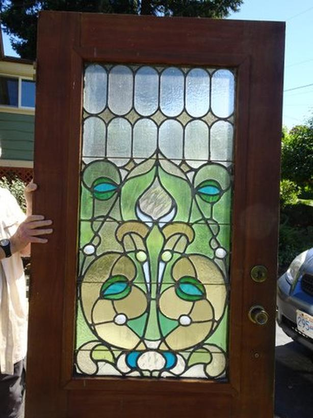 Stained Glass Window In 3634 Fir Front Door Lantzville Nanaimo