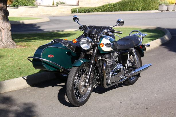 $8,950 · TRIUMPH BONNEVILLE T100 with SIDECAR (Cozy)