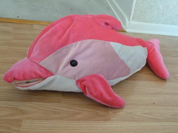 Large Pink Dolphin Stuffed Animal Saanich Victoria