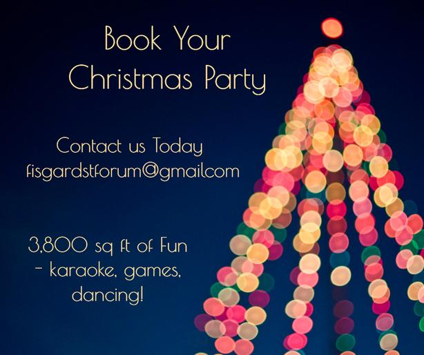 Book your Christmas Party!