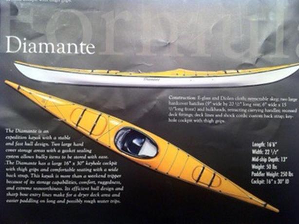 17 Foot Formula Diamante Fiberglass Sea Kayak