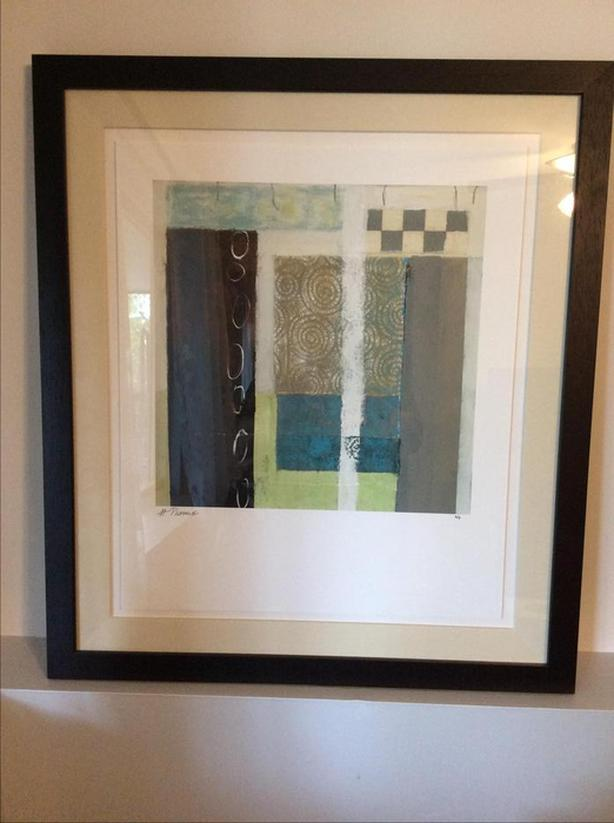 Abstract art piece/ solid frame/ limited