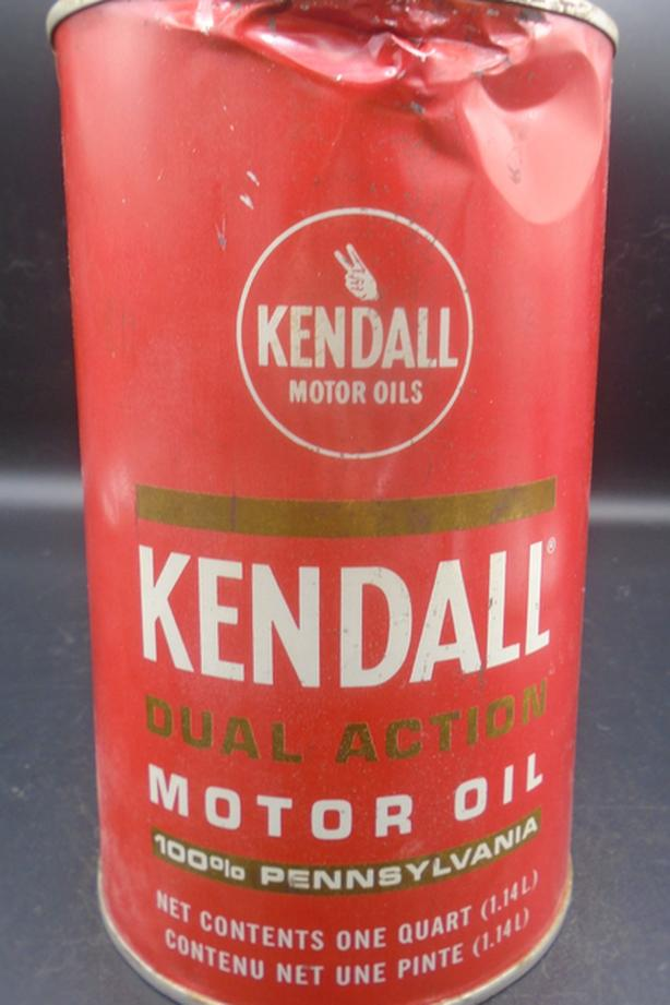 VINTAGE 1970's KENDALL MOTOR OIL IMPERIAL QUART CAN