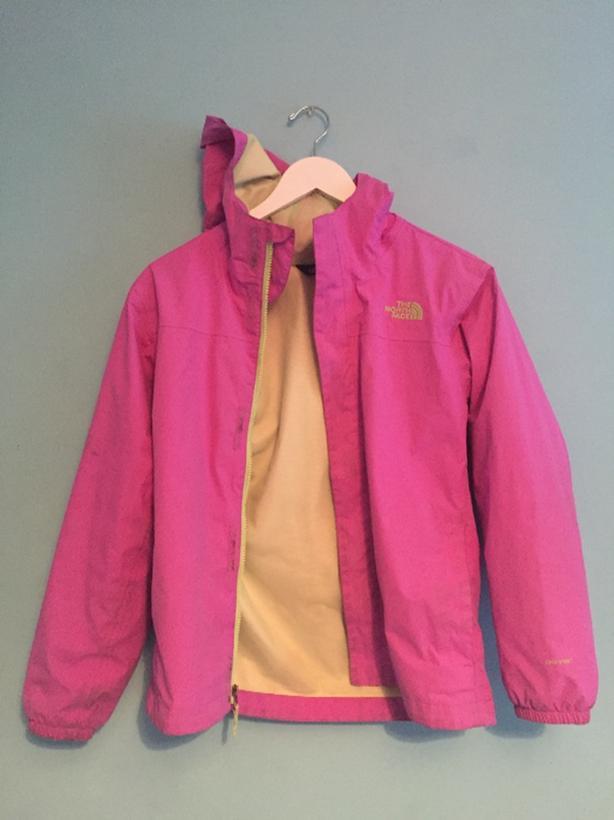 51645a9231 North Face -rain coat- Light Purple - Dryvent light jacket - kids size Large