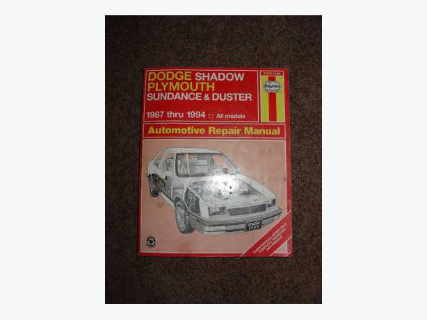 Dodge Shadow / Plymouth Sundance & Duster by Haynes