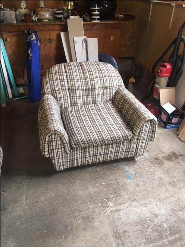 Couch and matching chair - free for cartin' it away