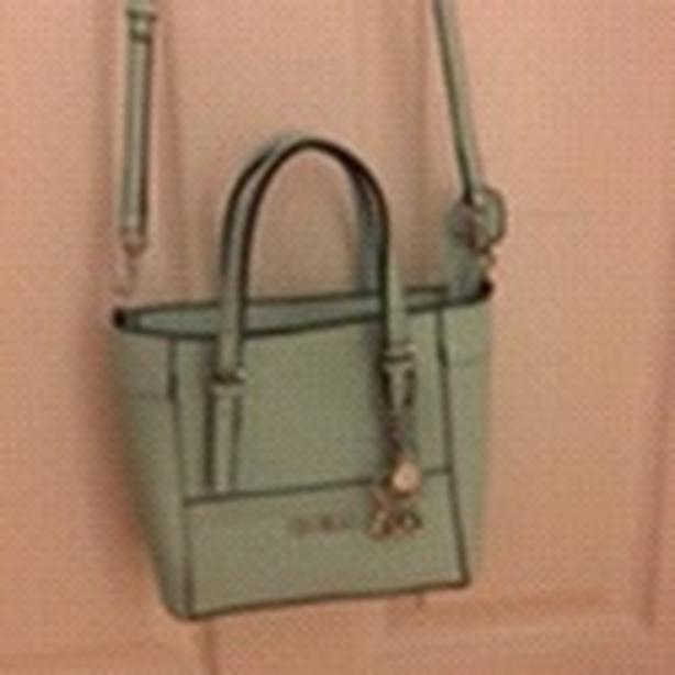 designer guess mint green mini cross body bag