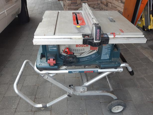  Log In needed $125 · Bosch 4100 Table Saw w/ Gravity Rise stand