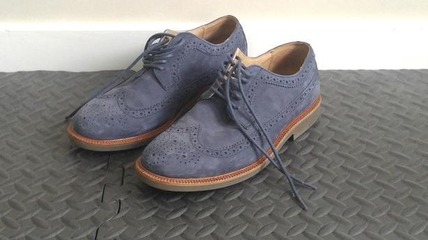 Polo Ralph Lauren Blue Suede Shoes
