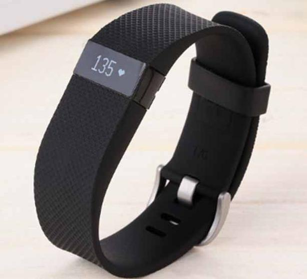 Fitbit Charge HR Fitness Tracker - Black Large - EUC