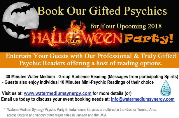 Halloween Party - Psychic Readings for Guest - BOOK US NOW