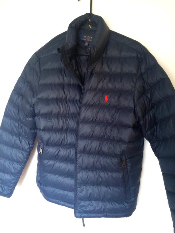 nwt PRL men Down Jacket navy M