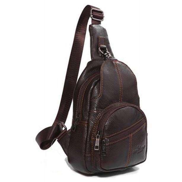 Leather Crossbody Shoulder Sling Bag