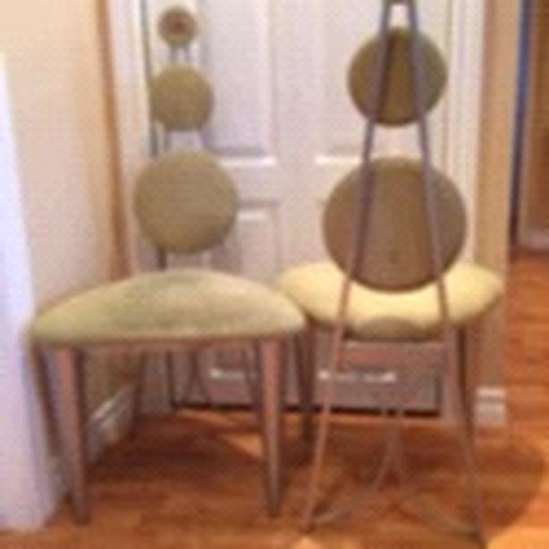 Green modern chairs