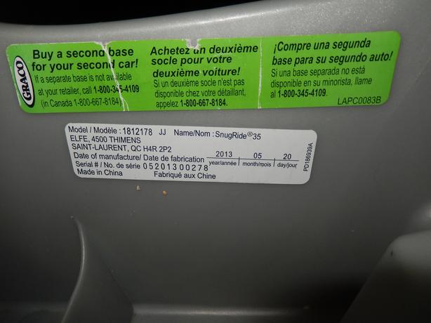 Graco SnugRide Classic Connect 30 35 Infant Car Seat Base