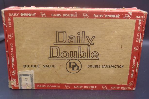 VINTAGE 1930's DAILY DOUBLE CIGARS BOX IMPERIAL TOBACCO CO., QUE.