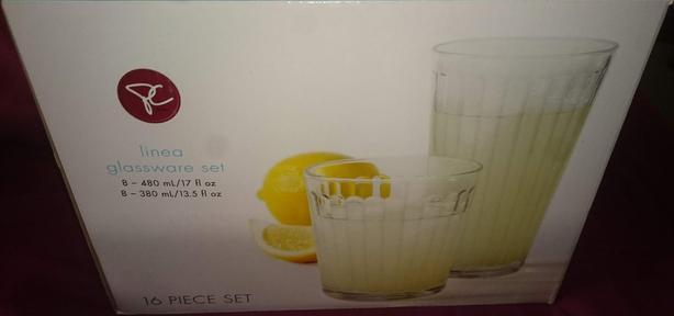 Linea 16 Piece glassware set new in the box
