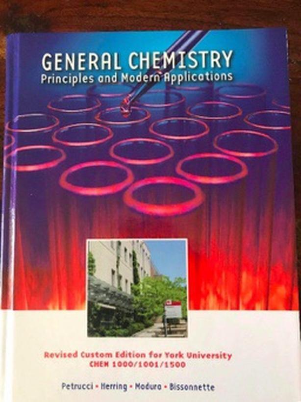 YORK U CHEMISTRY TUTOR PhD ORGANIC GENERAL INORGANIC
