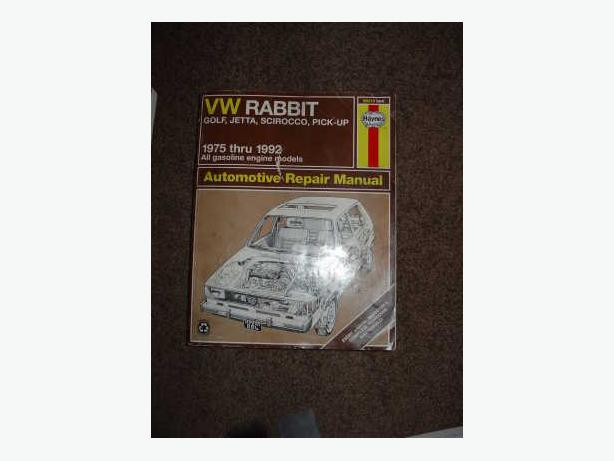 VW Rabbit Golf, Jetta, Scirocco, Pick-Up by Haynes