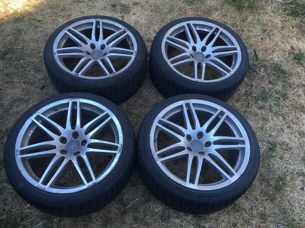 Genuine Oem Audi B7 Rs4 Wheels 19x9 Et29 With Blizzak Lm60 Tires