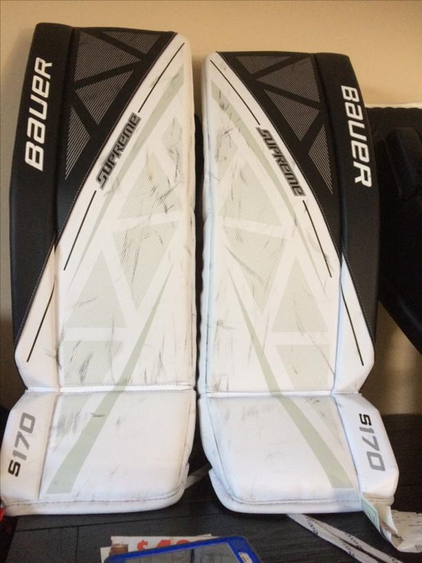 BAUER S170 SUPREME HOCKEY Goalie PADS $400