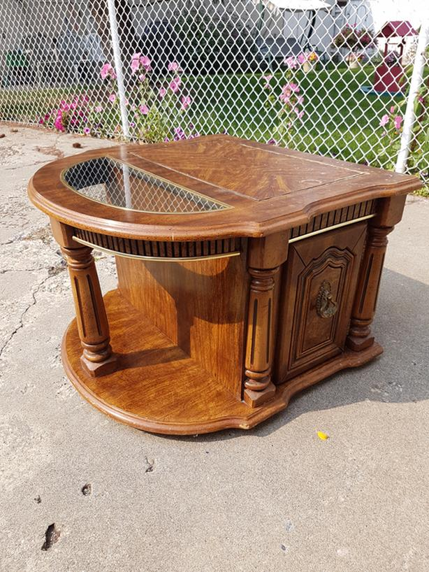 Semi-Circular End Table for Sale