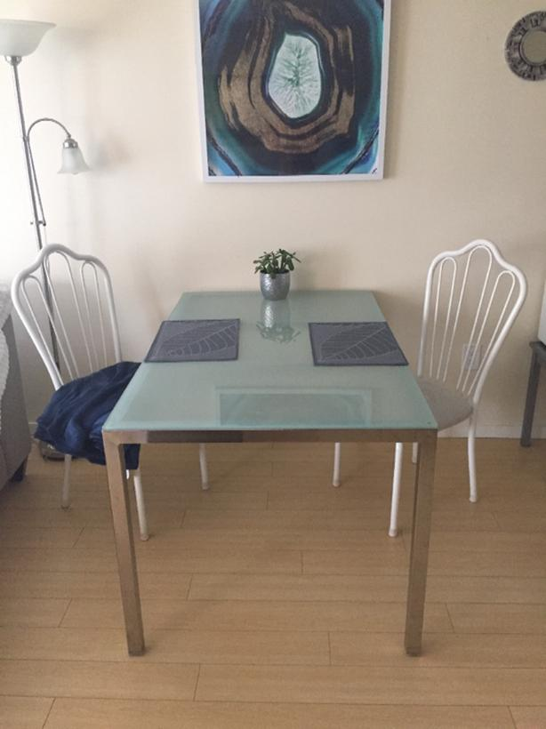 Frosted glass dinning table Grey Ikea Torsby Frosted Glass Dining Table Usedvictoriacom Ikea Torsby Frosted Glass Dining Table Victoria City Victoria