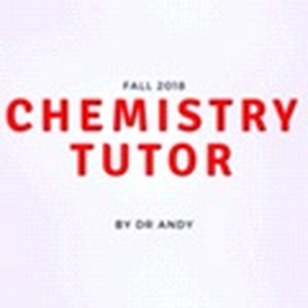 ORGANIC GENERAL INORGANIC CHEMISTRY PhD TUTOR