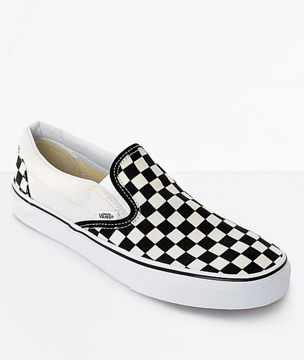 ce96a15602 Black and white checkboard vans - size 11