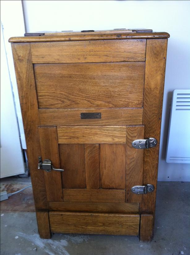 Antique Wood Fridge or Storage cabinet
