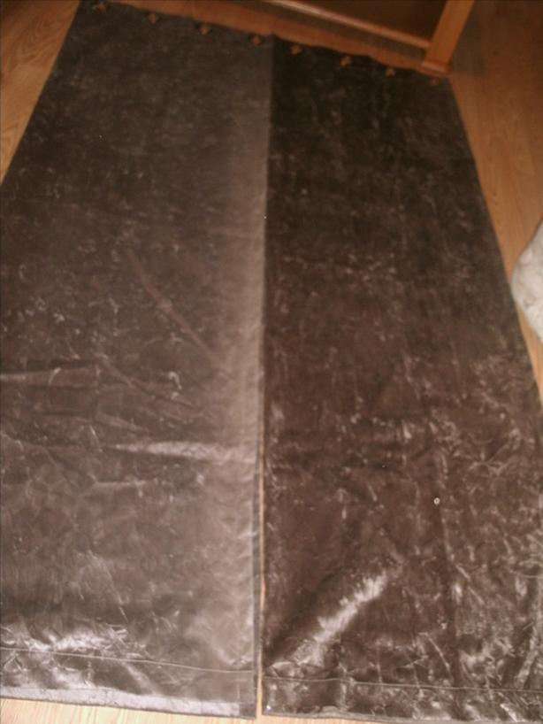 brown suede curtains