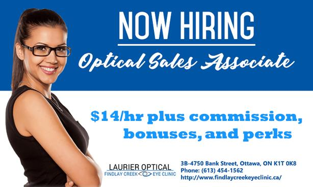 Laurier Optical Is In Need Of Sales Associate