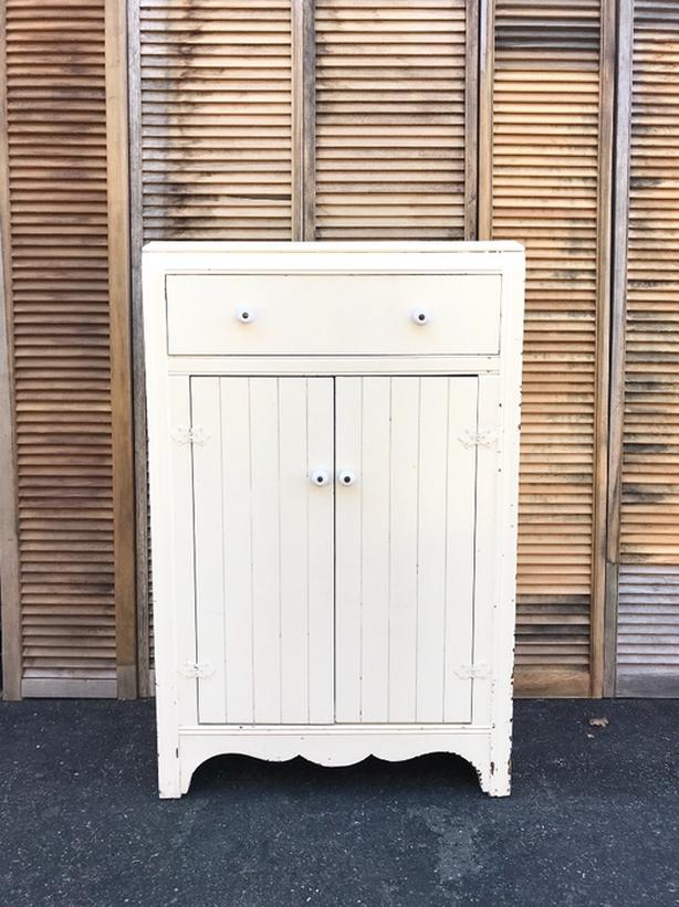 Antique Vintage Pantry Cupboard Shabby Chic Cabinet
