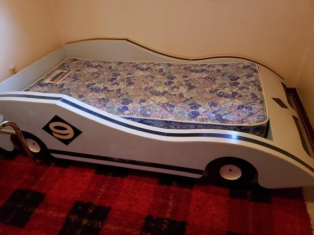 FOR SALE: Custom-Built Race Car Bed for Youth!