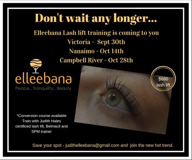9bfae366d49 Elleebana Lash lift training West Shore: Langford,Colwood,Metchosin ...