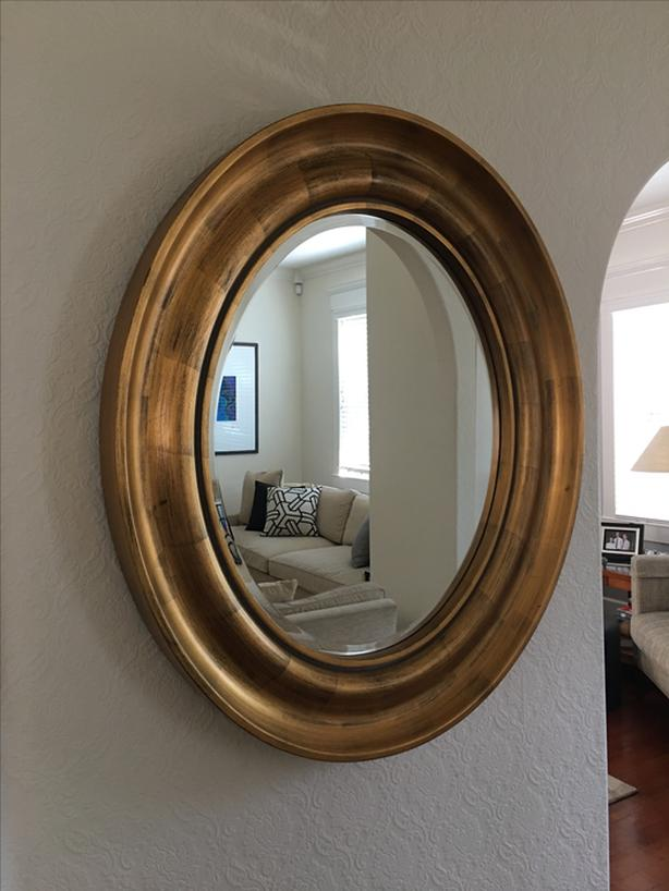 Log In Needed 90 Oval Mirror With Painted Wooden Frame