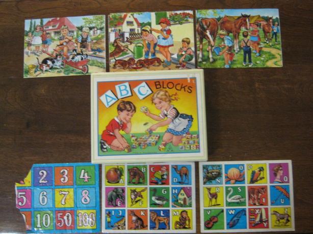 ABC DACHSUNDS & CHILDREN WOOD PUZZLE - $7