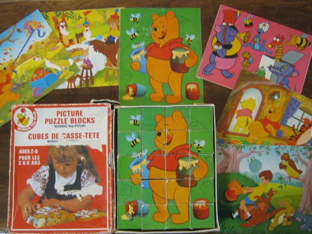 1970'S WINNIE-THE-POOH WOOD PICTURE PUZZLE - $5