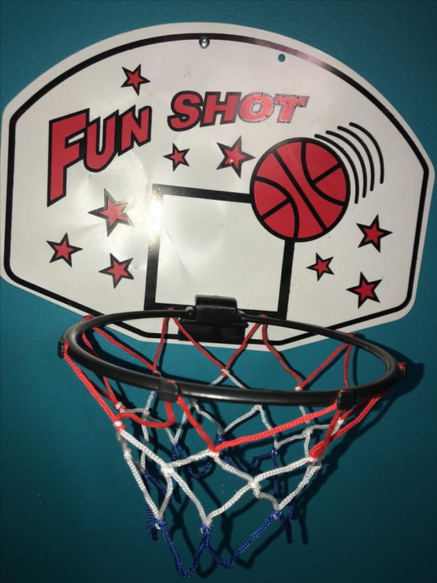 A  basketball net to hang on a door or wall