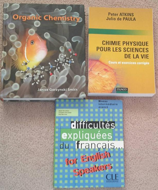 1st and 2nd year chemistry books by
