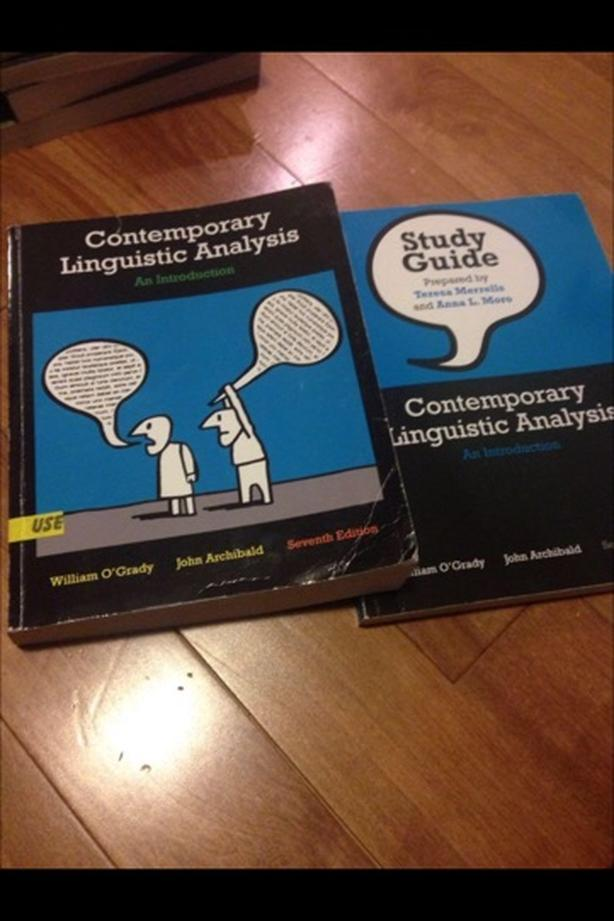 contemporary linguistic analysis with study guide west shore rh usedvictoria com Linguistic Learner study guide for contemporary linguistic analysis
