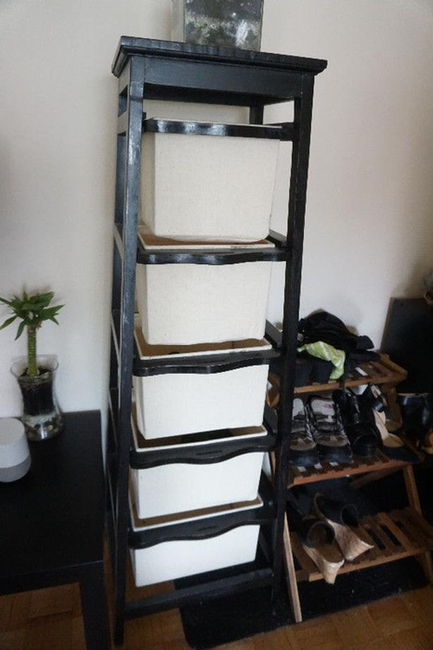 5 Drawer Storage with Fabric Bins