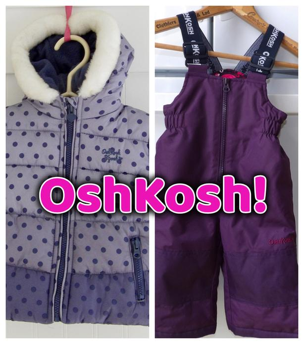 Toddler Girl OSHKOSH Winter Coat /Jacket  & Snow Pants
