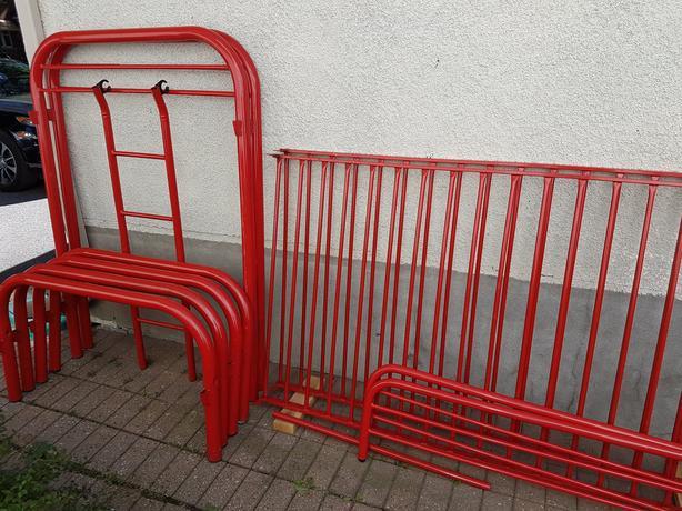 Red modular bunk beds