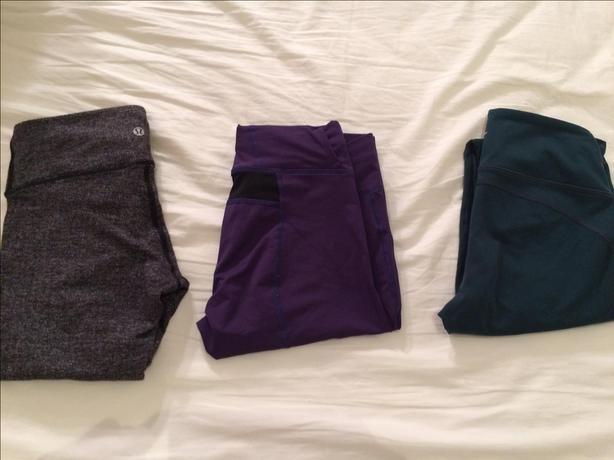 Lulu, Arc'teryx, Old navy tights