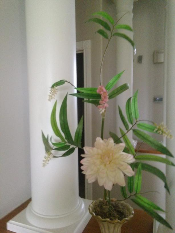 Flowers in conch vase