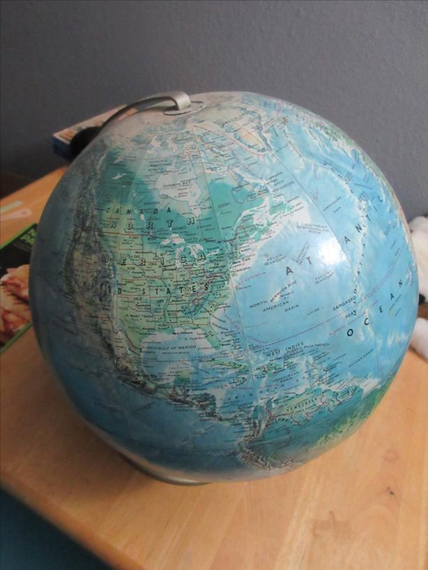 Vintage World Globe - 1958-1971